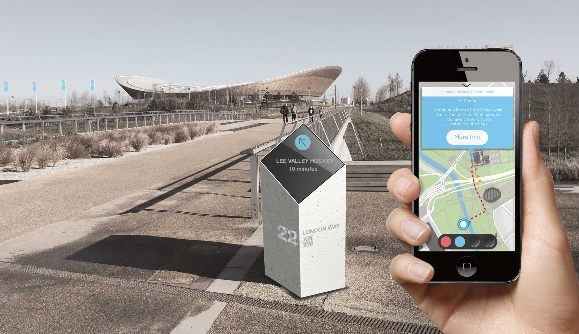 Smart London digital wayfinding