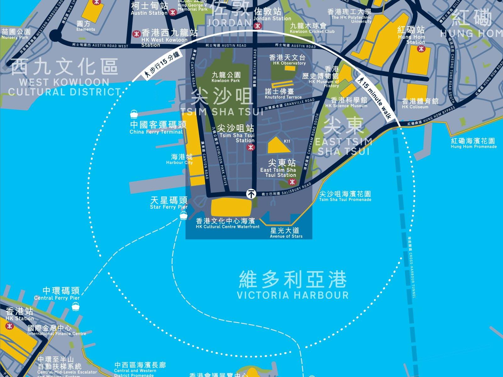 Hong Kong mapping detail