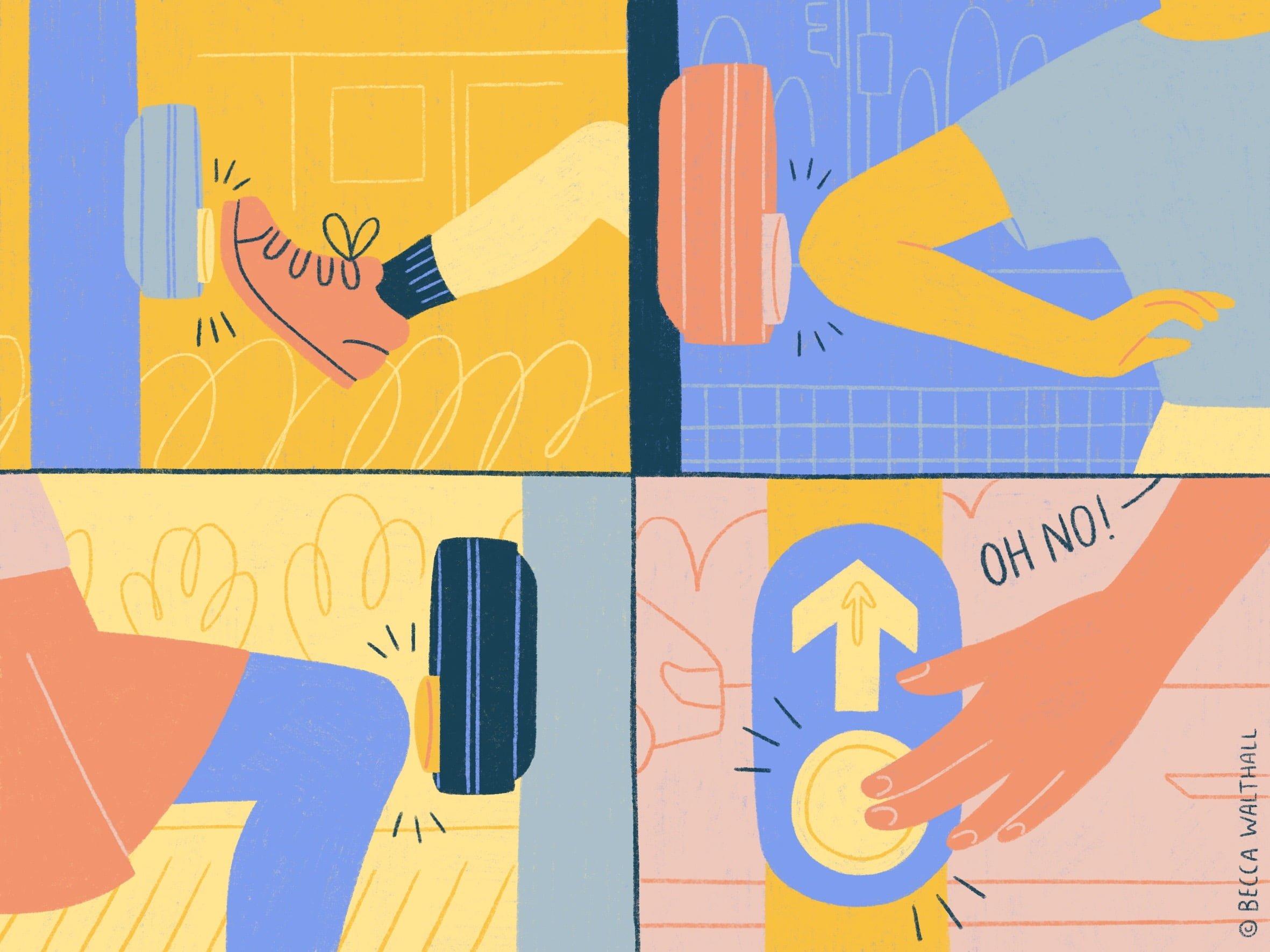 push button techniques illustration