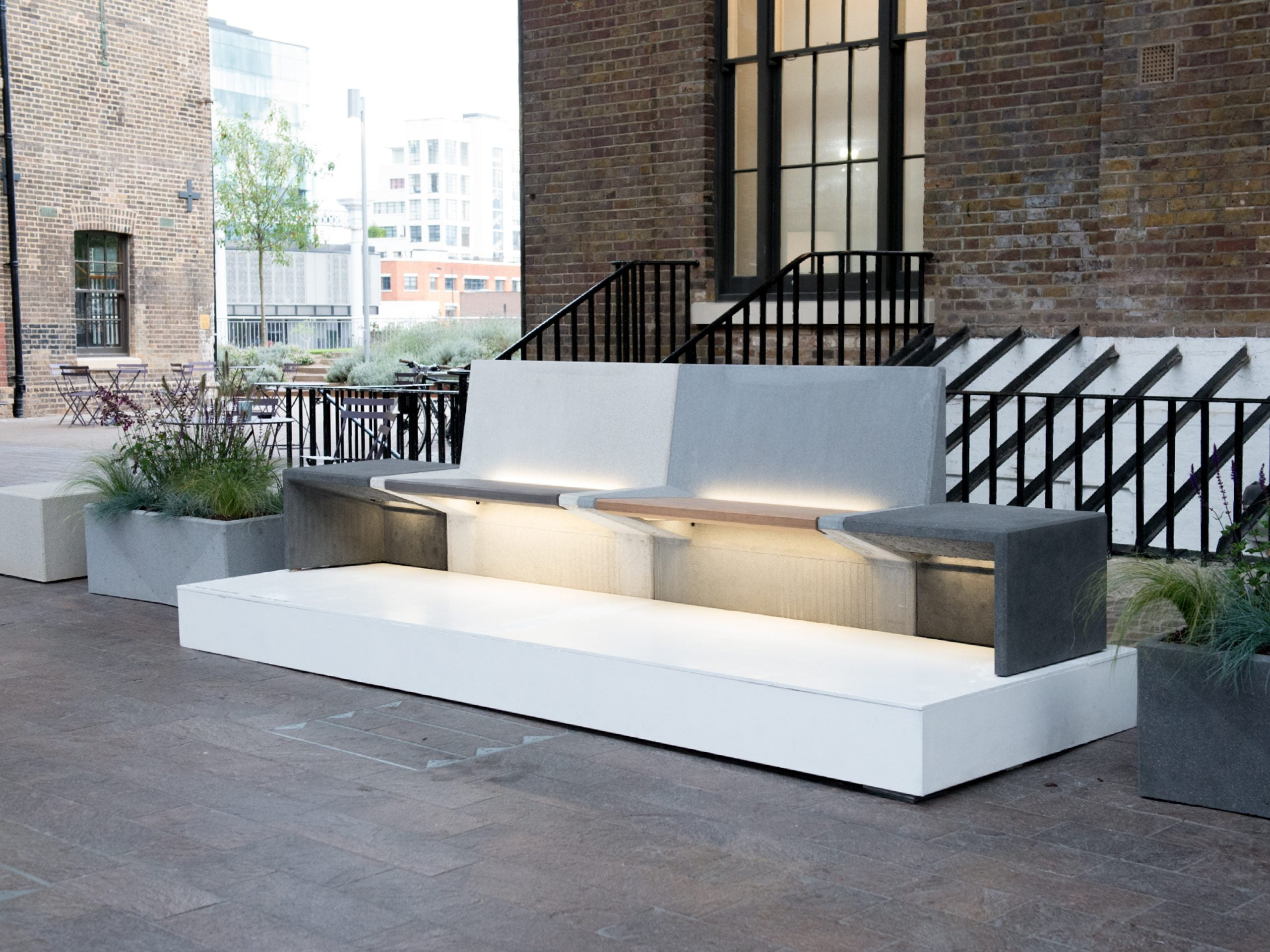 Modular smart concrete furniture suite