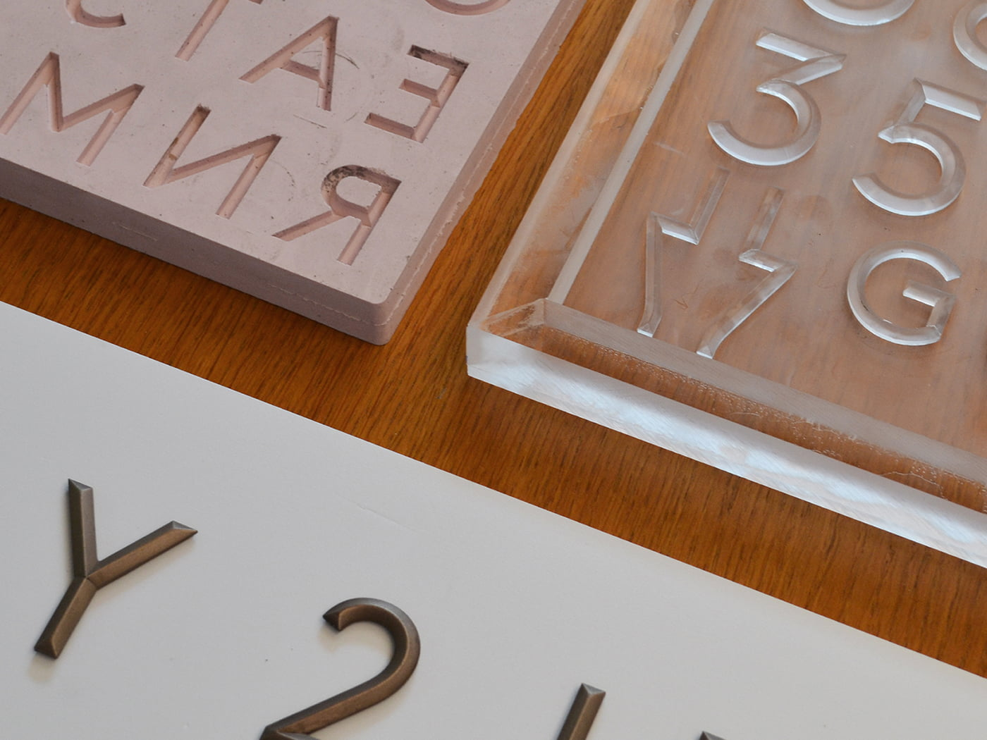 3D letters manufacturing process